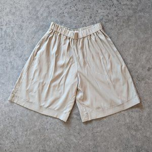 High Waisted Tan Loose Shorts by Co